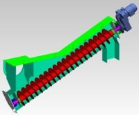 Grit screw conveyor CAD model