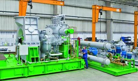 Steam turbine in factory