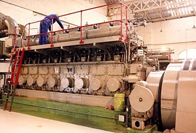 Diesel genset in existing power station.
