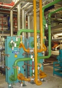 Photo of coolers and pipework