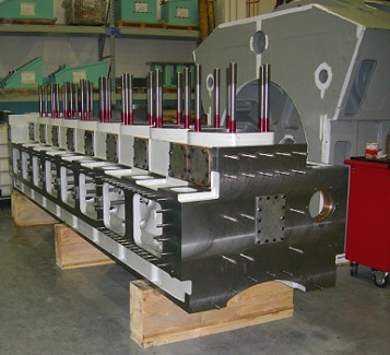 Machined cylinders with studs fitted