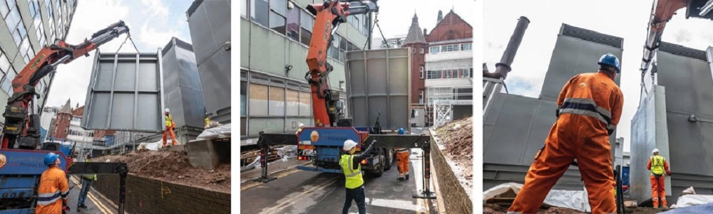 Installation of fire and blast resistant barrier